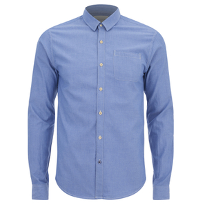 Scotch & Soda Men's Oxford One Pocket Shirt - Blue