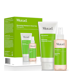 Crema limpiadora y tónico hidratante Renewing Cleansing Cream and Hydrating Toner Duo de Murad (valor 50 £)