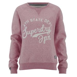 Superdry Women's Chain Stitch Crew Sweatshirt - Rose Twist