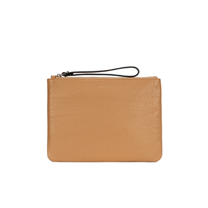 Coccinelle Women's Buste Leather Clutch Bag - Light Tan
