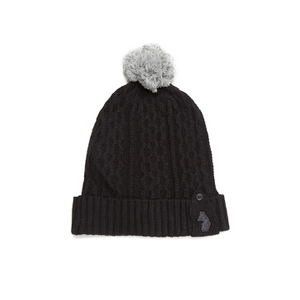 Luke Men's The Birdy Dance Cable Knitted Beanie - Black