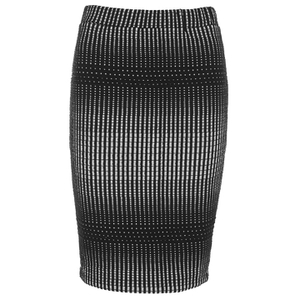 French Connection Women's Coordinating Pencil Skirt - Black and White