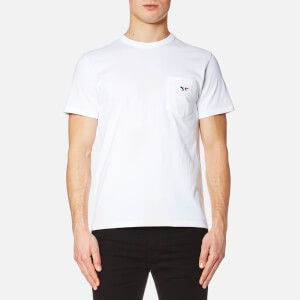 Maison Kitsuné Men's Tricolor Fox T-Shirt - White