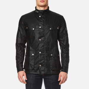 Barbour International Men's Enfield Wax Jacket - Black