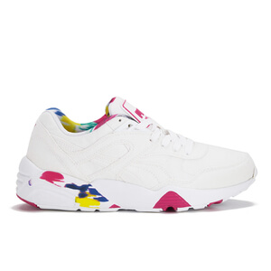 Puma Women's R698 Blur Low Top Trainers - White/Rose Red