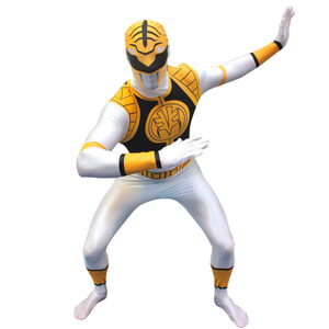 Morphsuit Adults' Power Rangers Blanco