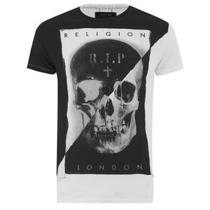 Religion Men's Skull Print Crew Neck T-Shirt - White