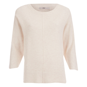 ONLY Women's Tessa 3/4 Oversize Pullover Knit Jumper - Peach Blush