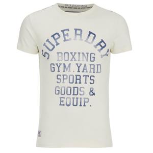 Superdry Men's Yard Printed T-Shirt - Superdry Ecru