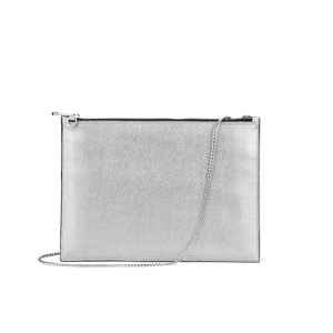 Aspinal of London Women's Soho Pouch - Silver/Black