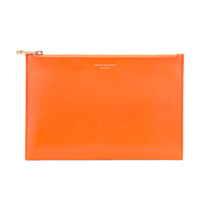Aspinal of London Women's Large Essential Pouch - Orange