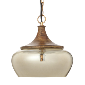Bark & Blossom Copper and Glass Dome Hanging Light