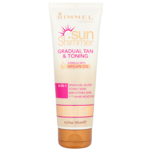 Rimmel Sunshimmer Gradual Tan & Tone Lotion -rusketus- ja sävyvoide 125ml