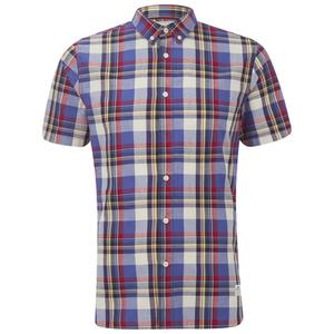 Penfield Men's Nolan Checked Short Sleeve Shirt - Blue