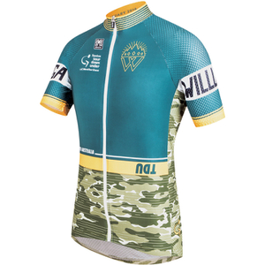 Santini Tour Down Under Old Willunga Hill Short Sleeve Jersey 2016 - Green