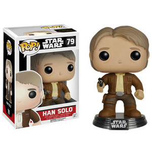 Star Wars The Force Awakens Han Solo Pop! Vinyl Bobble Head Figure