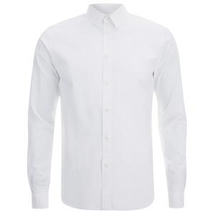 Folk Men's Long Sleeved Shirt - White