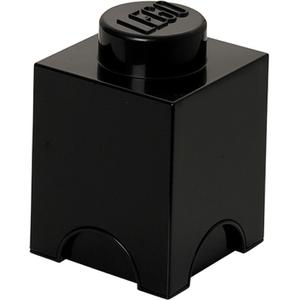 LEGO Aufbewahrungsbox 1 Noppe - Schwarz