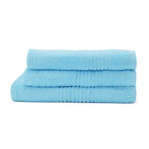 Highams 100% Egyptian Cotton 3 Piece Towel Bale (550gsm) - Sky