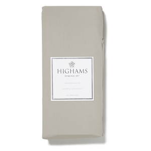 Highams 100% Egyptian Cotton Plain Dyed Fitted Sheet - Portabello [China Sizing Only]