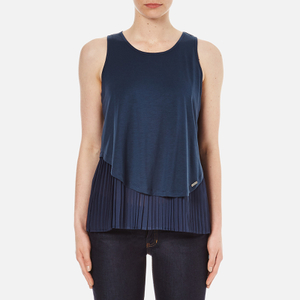 BOSS Orange Women's Topi Top - Dark Blue