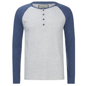 Camiseta manga larga Brave Soul Rasmus - Hombre - Gris/azul vintage