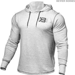 Better Bodies Men's Long Sleeve Cover Up Hoody - White Melange