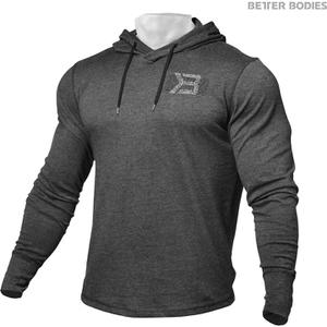 Better Bodies Men's Long Sleeve Cover Up Hoody - Anthracite Melange