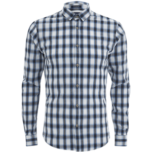Scotch & Soda Men's Shadow Check Long Sleeved Shirt - Multi