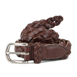 Scotch & Soda Men's Summer Woven Belt - Tabacco