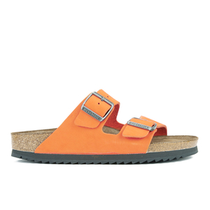 Birkenstock Women's Arizona Slim Fit Suede Double Strap Sandals - Orange