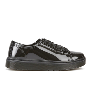 Dr. Martens Women's Lyrical Spin Patent Lamper LTT Low Top Shoes - Black