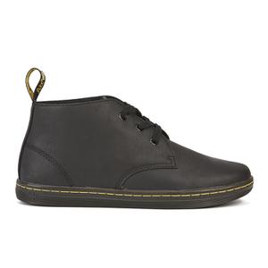 Padded Collar Desert Boots - Black