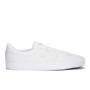 Converse Men's CONS Breakpoint Premium Leather Trainers - White/Gold
