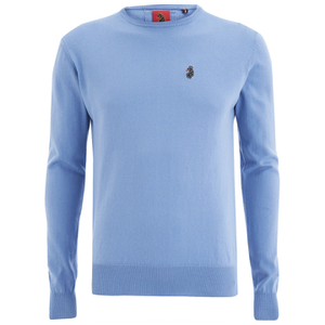 Luke 1977 Men's Gerard Otm Crew Neck Jumper - Powder Blue