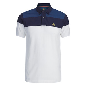 Luke 1977 Sport Men's Mickey Freedom Detailed Polo Shirt - White Mix