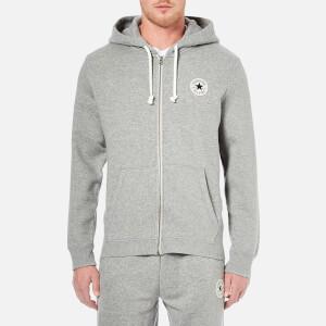Converse Men's Full-Zip Hoody - Vintage Grey Heather
