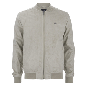 Threadbare Men's Milton Suedette Bomber Jacket - Stone