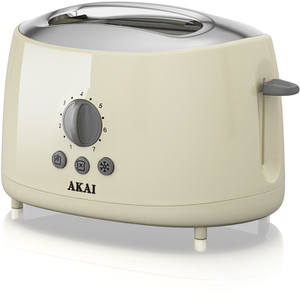 Akai A20001C 2 Slice Cool Touch Toaster - Cream