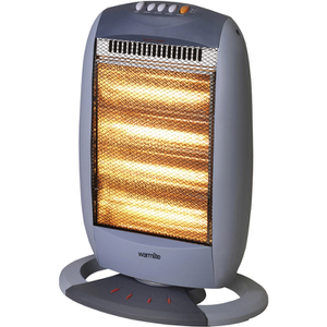 Warmlite WL42002 4 Bar Halogen Heater - Grey - 1600W