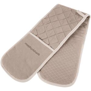 Morphy Richards 973513 Double Oven Glove - Stone - 18x88cm