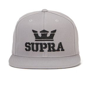 Supra Men's Above Logo Snapback - Silver/Black