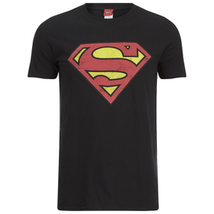 DC Comics Men's Superman Distress Logo T-Shirt - Black: Image 1