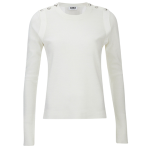 Sonia by Sonia Rykiel Women's Sailor Detail Long Sleeve Top - White