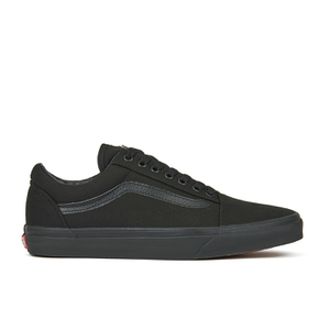 Vans Unisex Old Skool Canvas Trainers - Black/Black