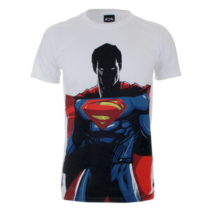 DC Comics Men's Batman v Superman T-Shirt - White