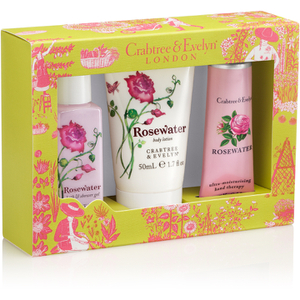 Crabtree & Evelyn Rosewater Little Luxuries 3 x 50ml