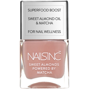 nails inc. Powered by Matcha King William Walk Sweet Almond Nail Varnish 14ml