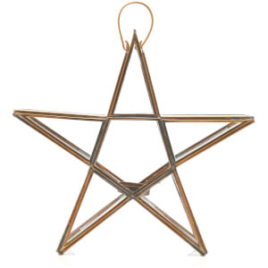 Nkuku Sanwi Standing Star T-Light Holder 26.5 x 28 cm - Antique Brass