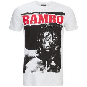 T-Shirt Homme Rambo Stare - Blanc